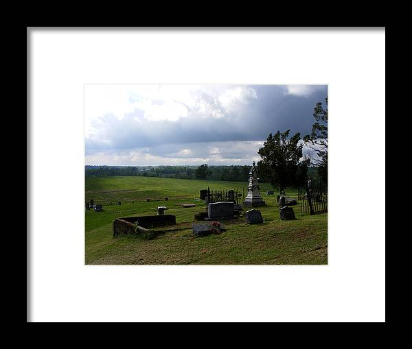 Landscape Framed Print featuring the photograph Heroes Of Olmsted by Rachel Christine Nowicki