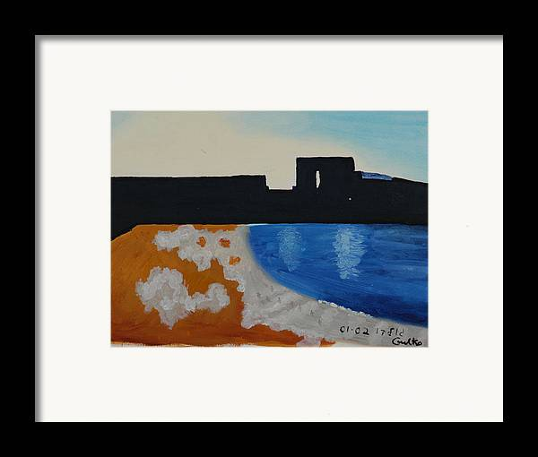 Beach Framed Print featuring the painting Herzliya Beach by Harris Gulko