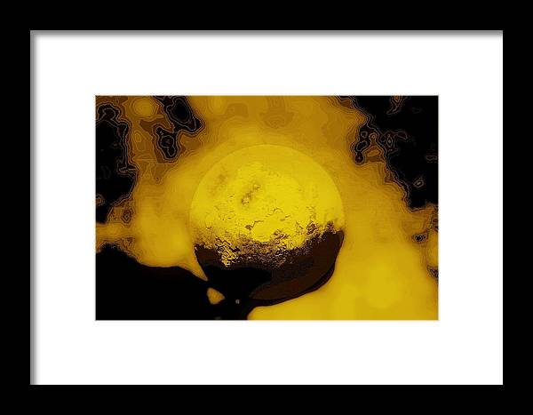 Planet Digital Photograph Framed Print featuring the digital art Hes Got The Whole World In His Hands by Susan Moore