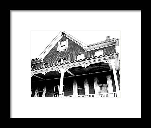 Ghosts Framed Print featuring the photograph Hester Had A Hunch Her House Was Haunted by Don Struke