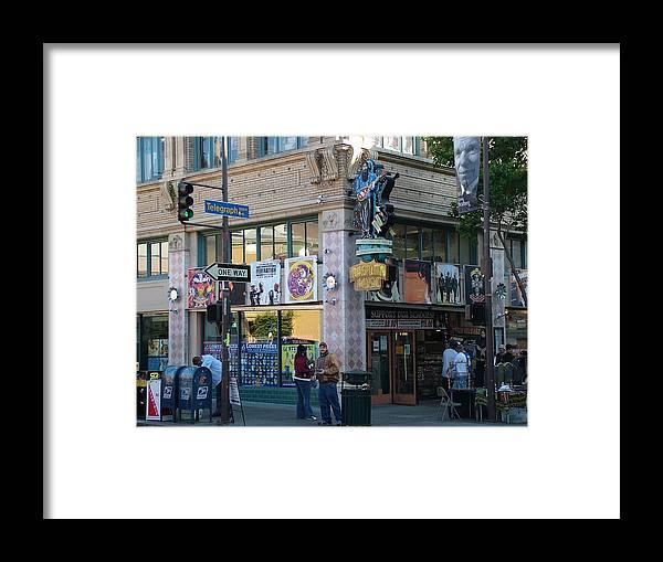 City Framed Print featuring the photograph Hey Man by John Loyd Rushing