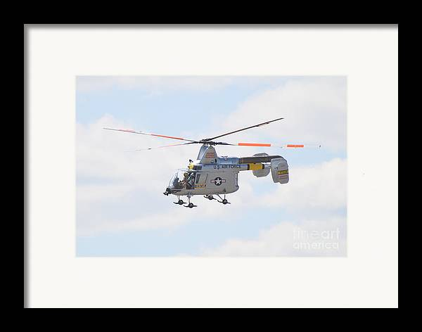 Helicopter Framed Print featuring the photograph Hh-43b Huskie by Larry Keahey