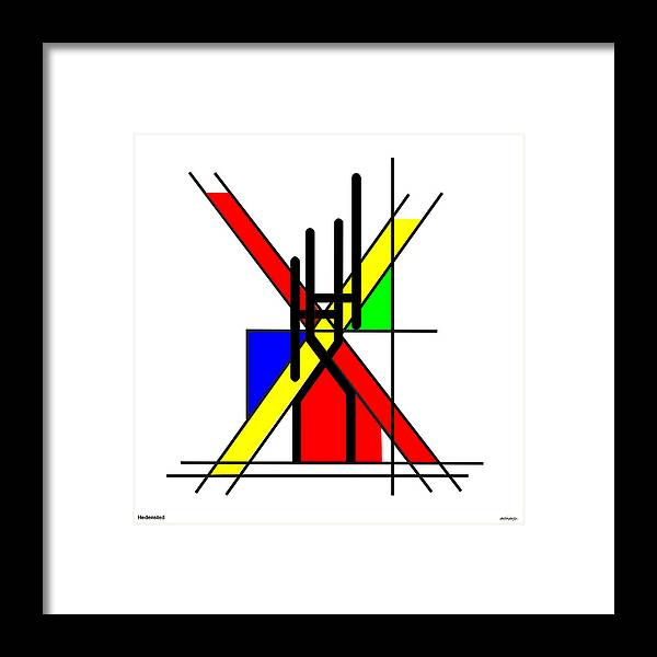 Hh Framed Print featuring the digital art HH by Asbjorn Lonvig