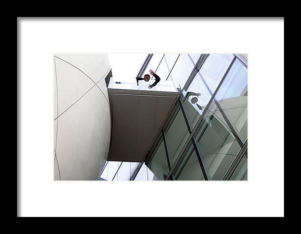 Jez C Self Framed Print featuring the photograph Hi Down There by Jez C Self