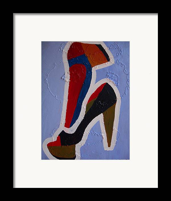 Shoes Framed Print featuring the painting Hi Heels by Heinrich Haasbroek
