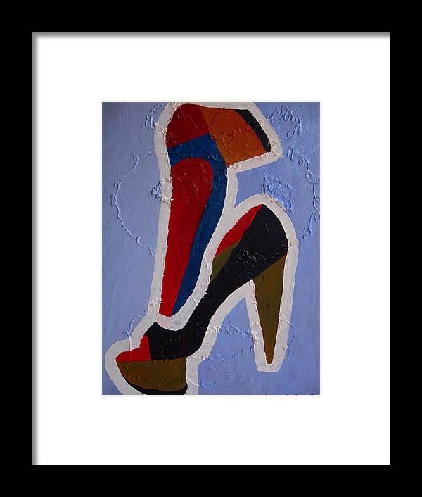 Shoes Framed Print featuring the painting Hi Heels by Heinrich Haasbroek