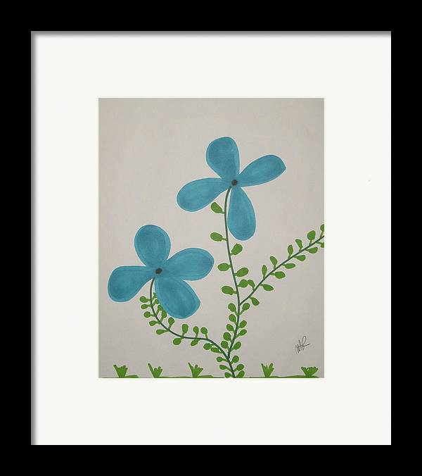 Flowers Framed Print featuring the drawing Hi by Nicholas A Roes
