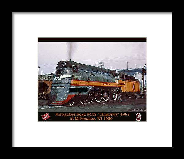 Milwaukee Road Framed Print featuring the photograph Hiawatha Steam by Dan Pope Collection
