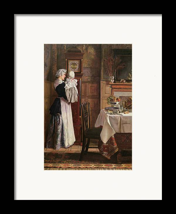 Hickory Framed Print featuring the painting Hickory Dickory Dock by Edith Hopkins