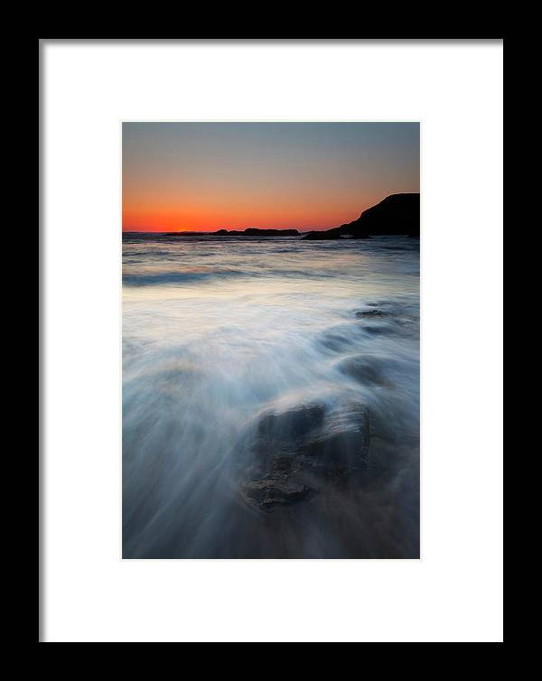 Seal Rock Framed Print featuring the photograph Hidden Beneath The Tides by Mike Dawson