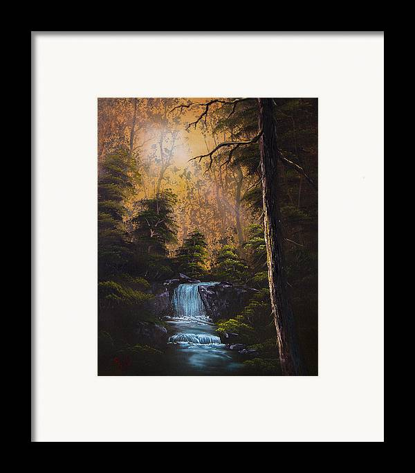 Landscape Framed Print featuring the painting Hidden Brook by C Steele