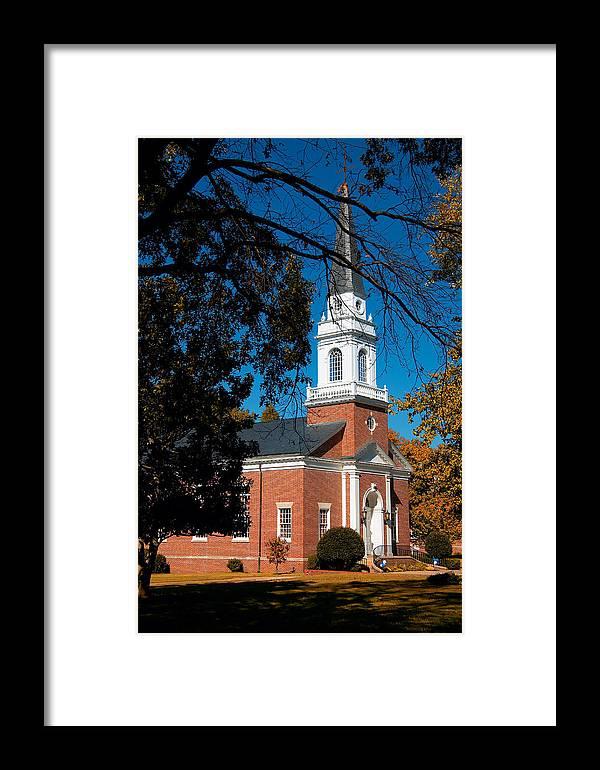 Church Framed Print featuring the photograph Hidden Chapel by Steve Parrott