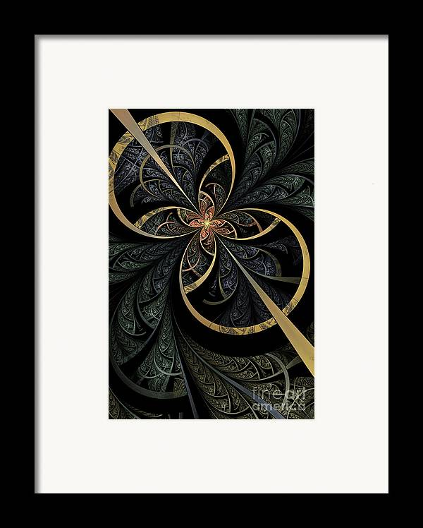 Flame Fractal Framed Print featuring the digital art Hidden Depths by John Edwards