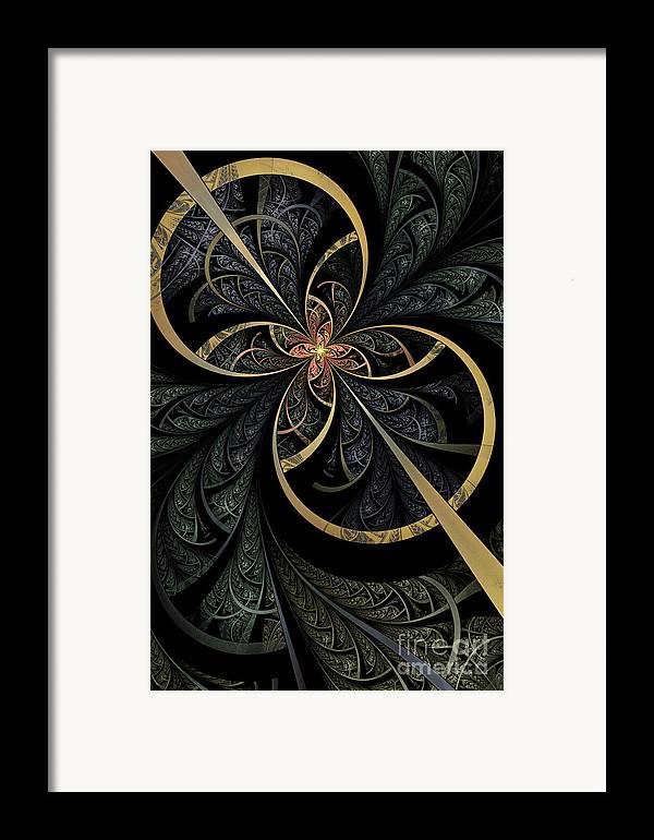 Flame Fractal Framed Print featuring the digital art Hidden Depths by John Edwards