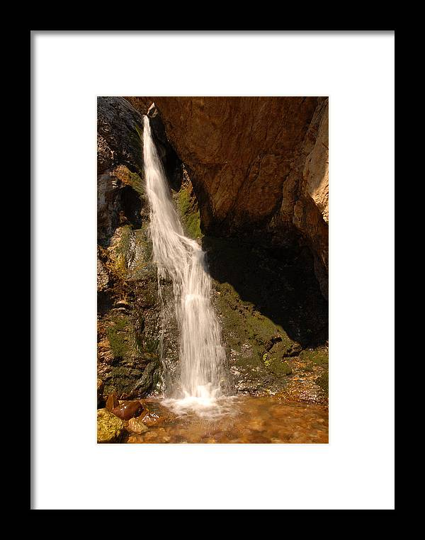 Waterfall Framed Print featuring the photograph Hidden Falls by Dennis Hammer