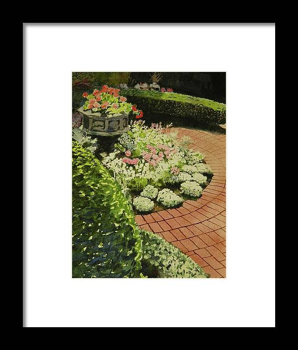 Walt Maes Framed Print featuring the painting Hidden Garden In Quebec by Walt Maes