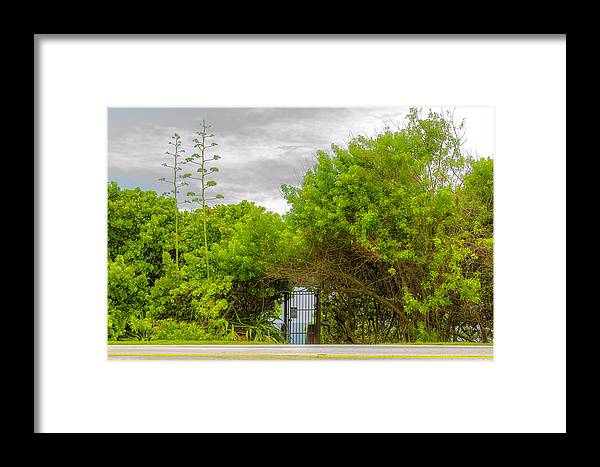 Hidden Gate Framed Print featuring the photograph Hidden Gate II by Wolfgang Stocker
