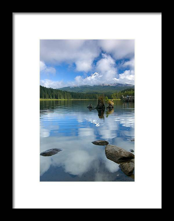 Mt. Hood Framed Print featuring the photograph Hidden In Fleece by Mike Dawson