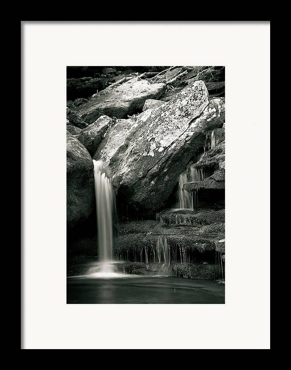 Waterfalls Framed Print featuring the photograph Hidden In The Forest by Iris Greenwell