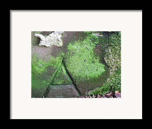Stone Carving Framed Print featuring the photograph Hidden Meaning by Belinda Consten