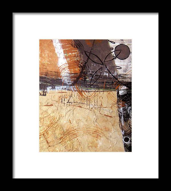 Abstract Framed Print featuring the painting Hidden Treasures II by Ruth Palmer