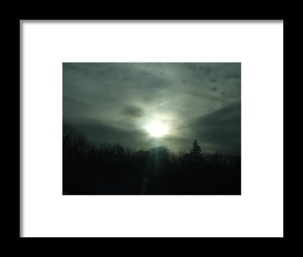 Sun Framed Print featuring the photograph Hidding Sun by Tyson Eugene