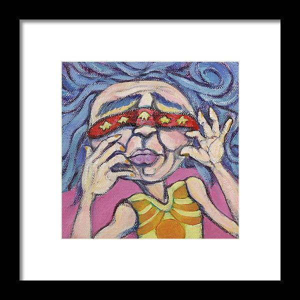 Original Painting Framed Print featuring the painting Hide And Seek by Michelle Spiziri
