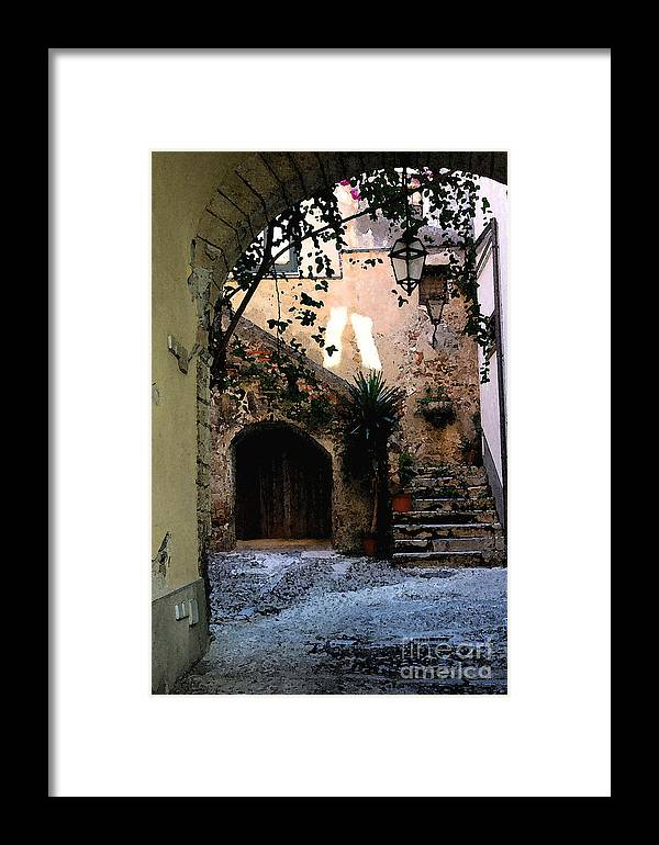 Warm House Entrance. Framed Print featuring the photograph Hide Away by Dennis Curry