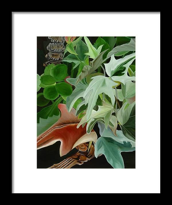 Floral Framed Print featuring the painting Hide'n Seek IIi by Sunhee Kim Jung