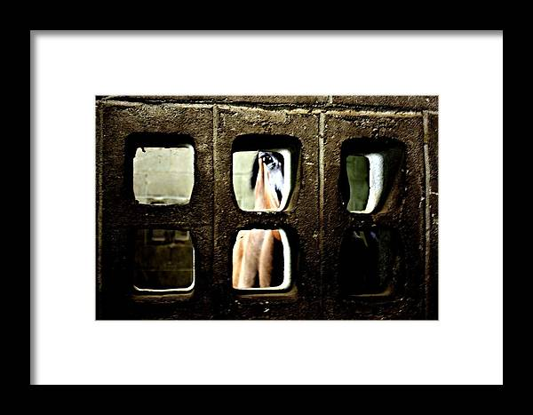 Horse Framed Print featuring the photograph Hiding by Jill Tennison