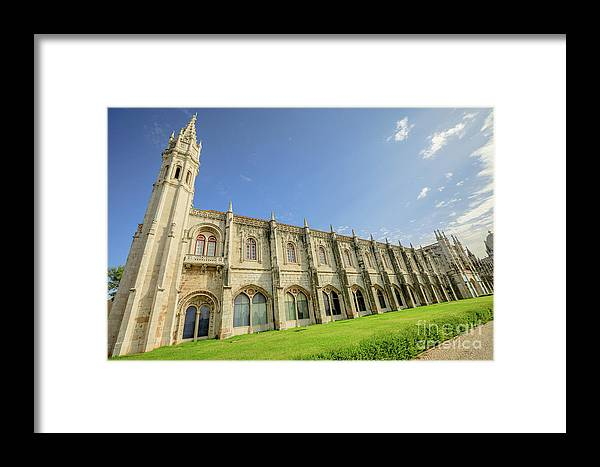 Lisbon Framed Print featuring the photograph Hieronymites Monastery Lisbon by Benny Marty