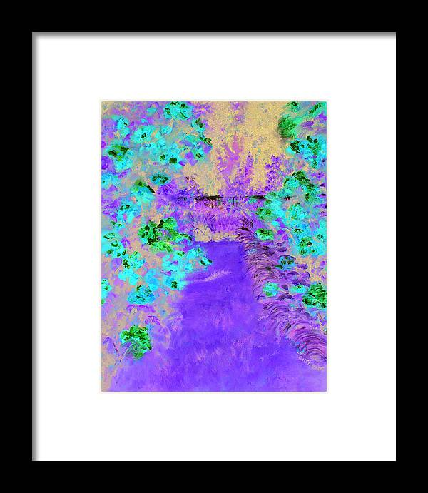 Framed Print featuring the painting Higdon House Pink by Denise Lockhart Bush