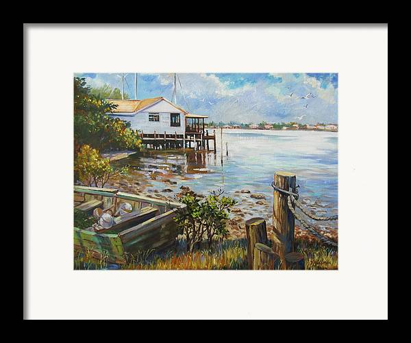 Old Rowboat Framed Print featuring the painting High And Dry by Dianna Willman