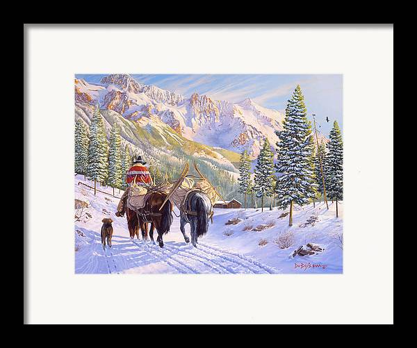 Horses Framed Print featuring the painting High Country by Howard Dubois