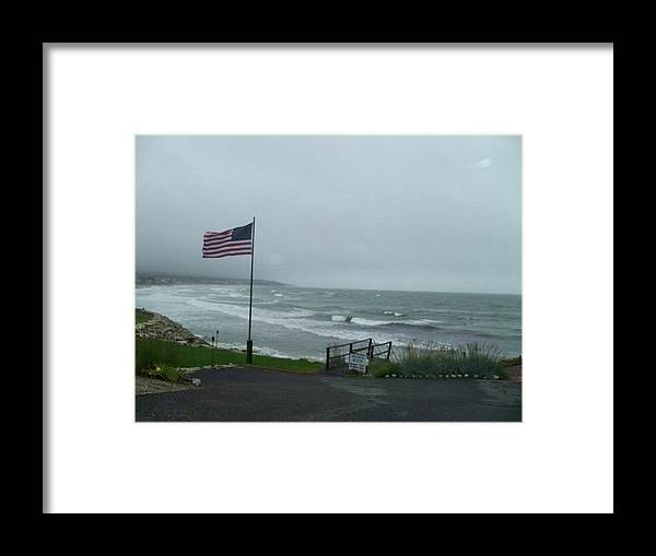 Untouched Photo Framed Print featuring the photograph High Flying Flag by Valerie Bruno