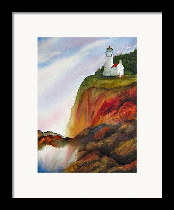 Coastal Framed Print featuring the painting High Ground by Karen Stark