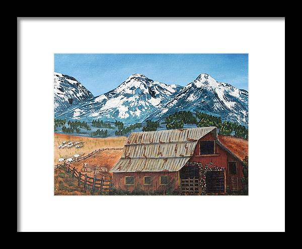 Landscape Framed Print featuring the painting High Home by Julia Ellis