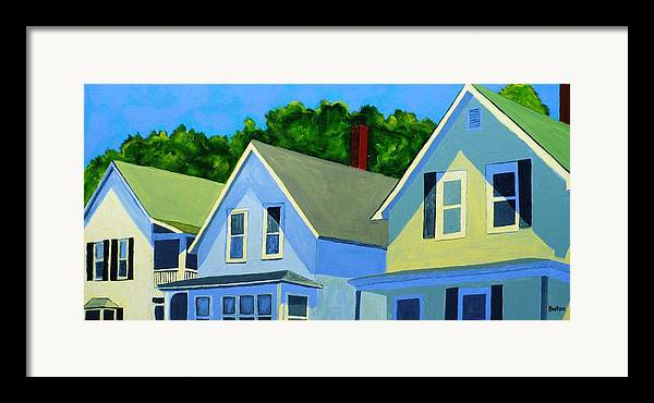 Cityscape Framed Print featuring the painting High Noon by Laurie Breton