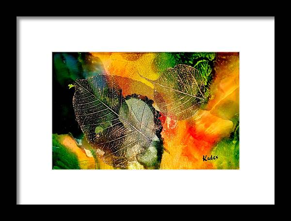 Abstract Framed Print featuring the mixed media High On Nature by Susan Kubes