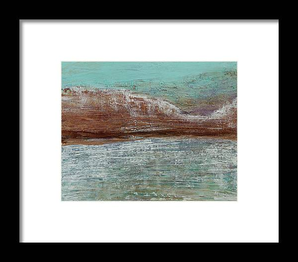 Mountains Framed Print featuring the painting High On That Mountain by K Batson Art