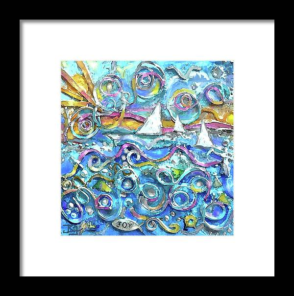High Seas Wire Wall Sculpture Framed Print by Jean Batzell Fitzgerald