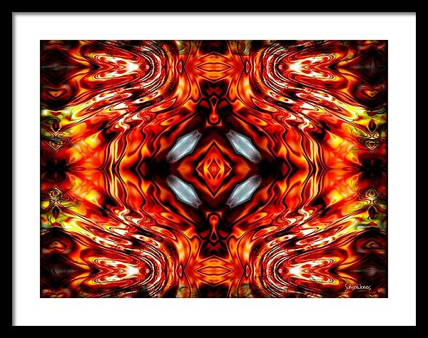 Abstract Framed Print featuring the digital art High Society by Robert Orinski