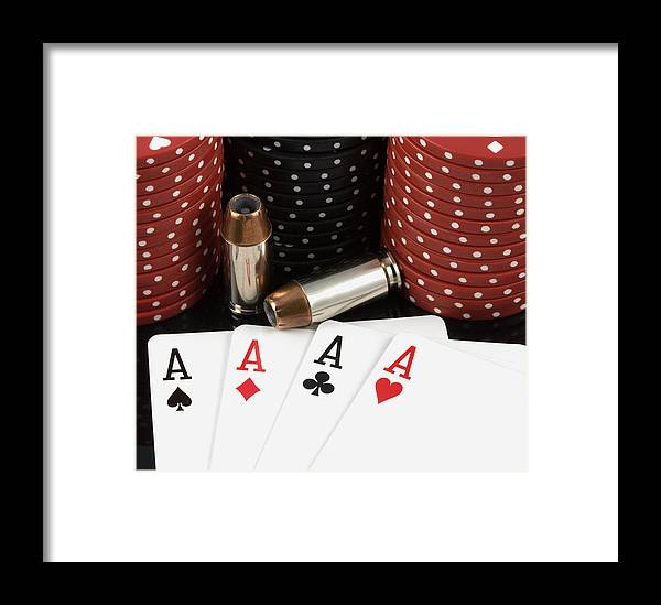 Aces Framed Print featuring the photograph High Stakes Poker by Al Mueller
