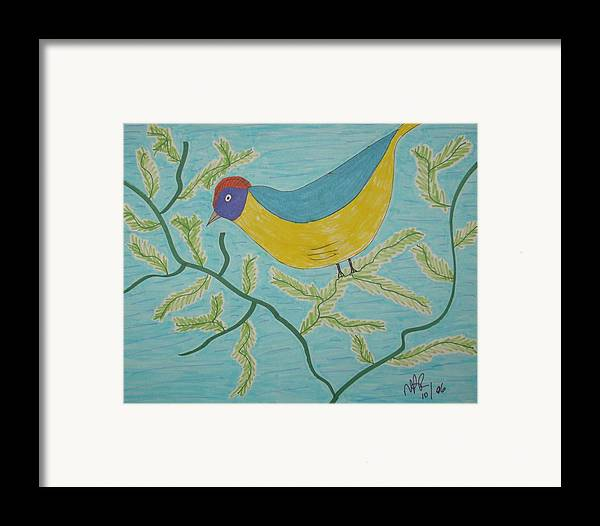 Birds Framed Print featuring the drawing High Tail by Nicholas A Roes