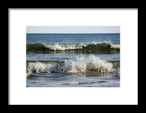 Ocean Framed Print featuring the photograph High Tide Coming by Suzanne Gaff