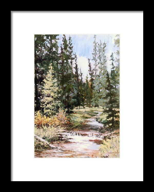 Stream Framed Print featuring the painting High Uintah Stream by JoAnne Corpany