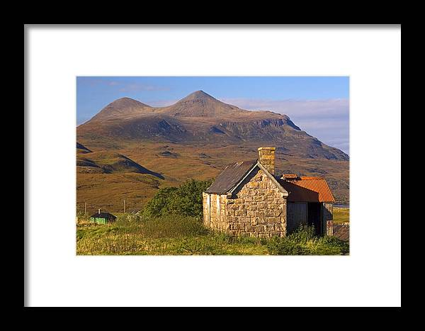 Scotland Framed Print featuring the photograph Highland Cottage At Elphin by John McKinlay