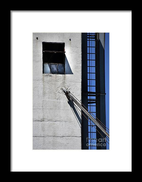 Culture Framed Print featuring the photograph Highrise Fire Escape by Skip Willits