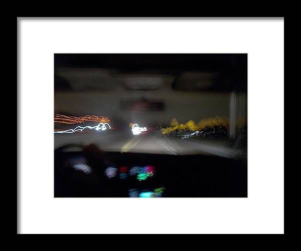 Driving Framed Print featuring the photograph Highway Hypnosis by Jacob Stempky