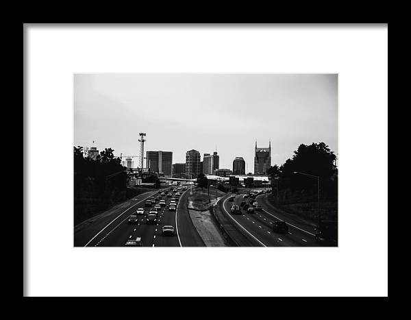Nashville Framed Print featuring the photograph highway to Music City by Jesse Kilmon